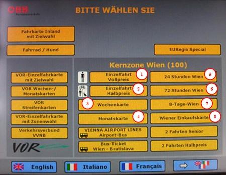 билеты для венского транспорта