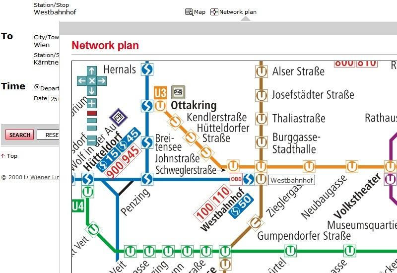 Просмотр маршрута на карте