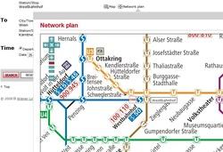 остановки транспорта в Вене